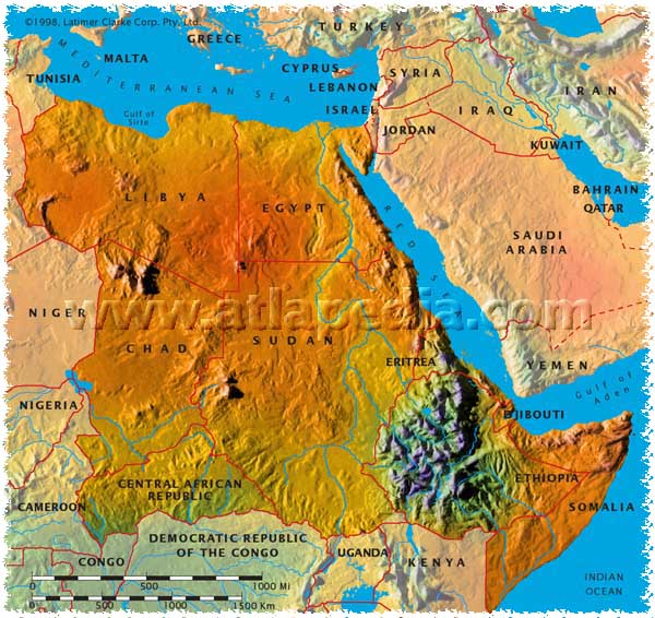 The US Power Grab In Africa Haiti Chery - North africa physical map