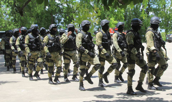 Swat team of Haiti's National Police (PNH).