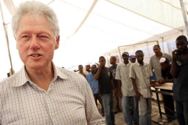 Former US Presidents, William Jefferson Clinton and George W. Bush, visit Port-au-Prince, Haiti.