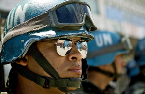Brazilian MINUSTAH Peacekeepers Provide Security at Voting Center
