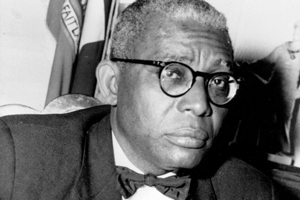 Dr Francois Duvalier President of Haiti 1st December 1957 Haiti / Mono Print