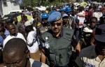 UN Peacekeepers and Haitian Police PatrolEarthquake Commemoration Gathering