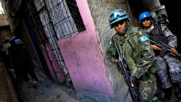 MINUSTAH Peacekeepers on Street Patrol